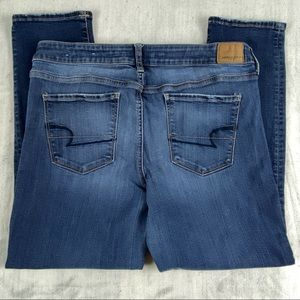 American Eagle Super Stretch Jeans Size 14 Short Light Wash Factory Fade